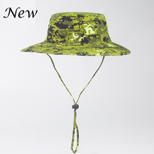 2016 New Women Hot Outdoor Fishing Sun Hat Army Fisherman Sun Cap Hunting Bob Chapeau topi gorros Brand Summer Bucket Hat Men