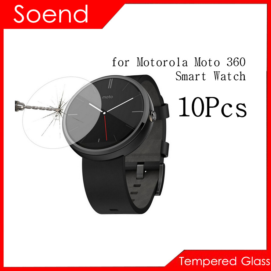 10Pcs/Lot Tempered Glass Screen Protector For Motorola Moto 360 Smart Watch SmartWatch Protection Cover Protective Guard Film 2
