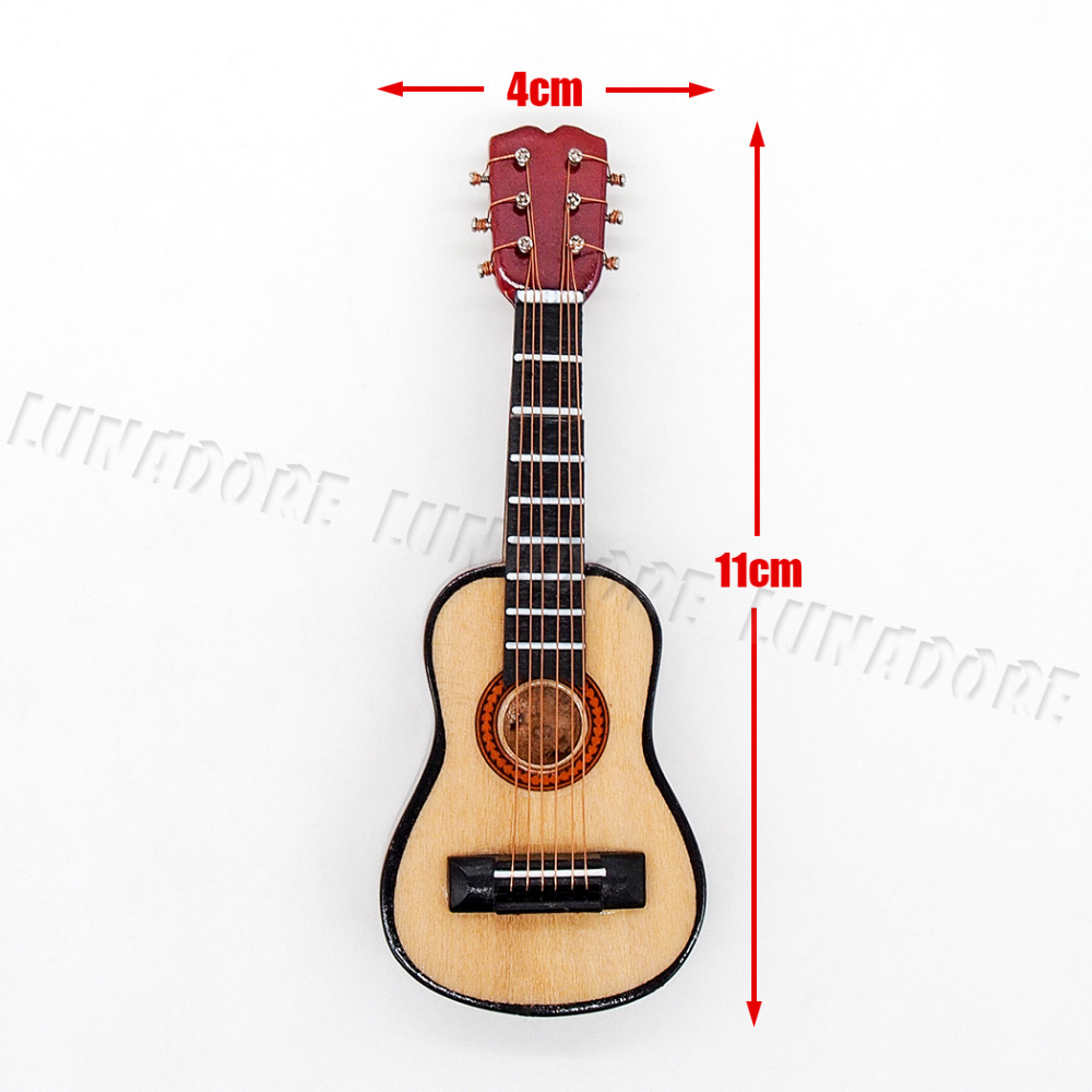112 échelle Instrument Miniature guitare en bois de  ~ Bois Pour Guitare