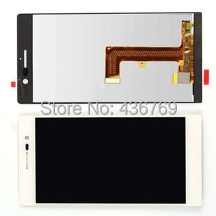 Touch Screen Digitizer LCD display Assembly For huawei ascend p7 P7-L00  P7-L01 P7-L05 P7-L09 P7-L10 glass lens white