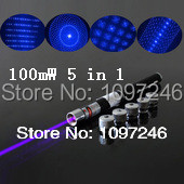 Violet Blue 5 in 1 Brand New Star 100mW Laser Pen With Five Stars Caps Apontador Caneta Laser Azul Lazer Buring Laser Presenter(China (Mainland))