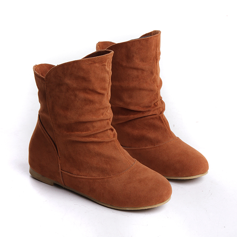 Compare Prices on Brown Flat Leather Boots for Women- Online ...