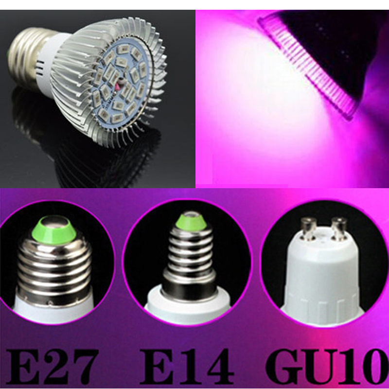 Full spectrum LED Grow lights 10W18W E27 E14 GU10 lamp bulb Flower plant Hydroponics system AC 85V 265V grow box - ZHONGLIXING LIGHTING2 store