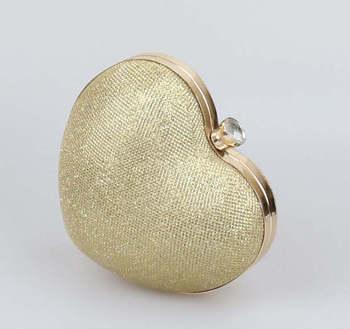 Women's Luxury Heart Clutch