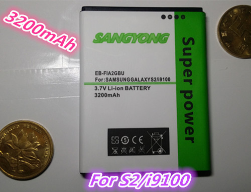 new 3200mAh EB-F1A2GBU battery For SAMSUNG Galaxy S2 I9100 9100 i9100g i9103 i9105 I9108 i9050 i9188 Free shipping(China (Mainland))