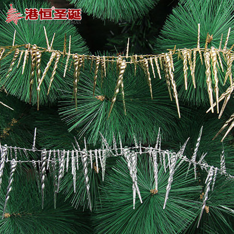 Christmas tree ornaments 200 * 6cm PVC Christmas ice chain string 60g indoor Christmas decorations for home and trees(China (Mainland))