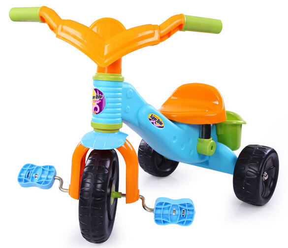 Children Kids 3 Wheel Bicycle Bike Tricycle Trike With Basket Ride On Scooter Outdoor Toys(China (Mainland))
