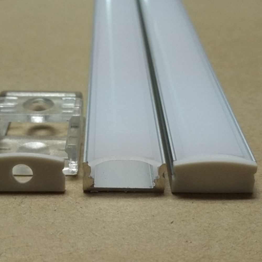 40m (20pcs) a lot, 2m per piece, led aluminum profile SN1707 for 12mm wideness or below led strips(China (Mainland))