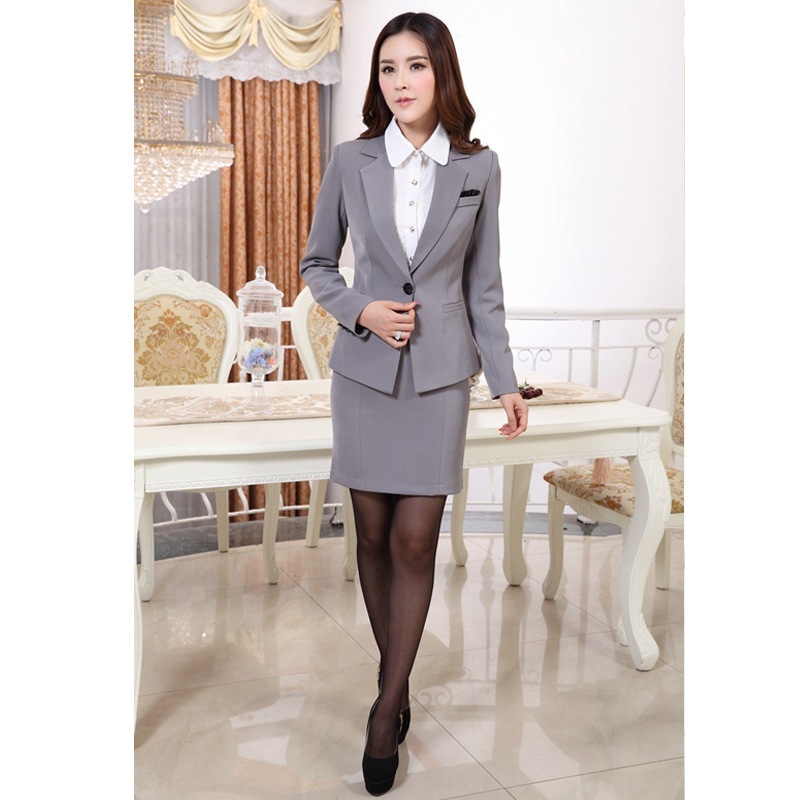 Innovative Ladies Office Skirt Suit New 2015 Uniform Designs Women Business Suits Formal Work Wear Female ...