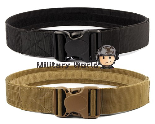 "2 Colors 2.0"" Airsoft Tactical Load Bearing Nylon Duty Web Belt Men Outdoor Military High Quality Army Belt  BK/TAN(China (Mainland))"