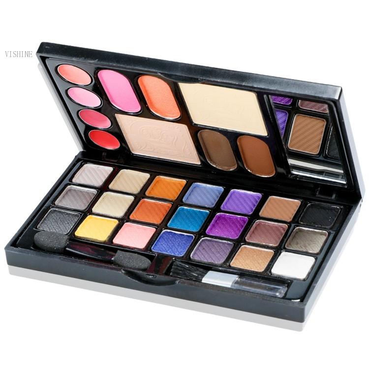 Multifunction Portable Colorful Wet Eye Shadow Eyebrow Shine Lip Gloss Blush Cosmetic Eyes Makeup Palette Kit 31(China (Mainland))