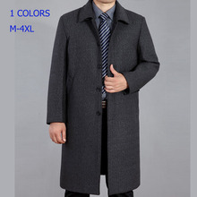 2014 Autumn Hot-selling Solid Wool Trench Coat Men Single Breasted Trench Men's Outerwear Casual Coat Men's Jackets Casaco 165R(China (Mainland))