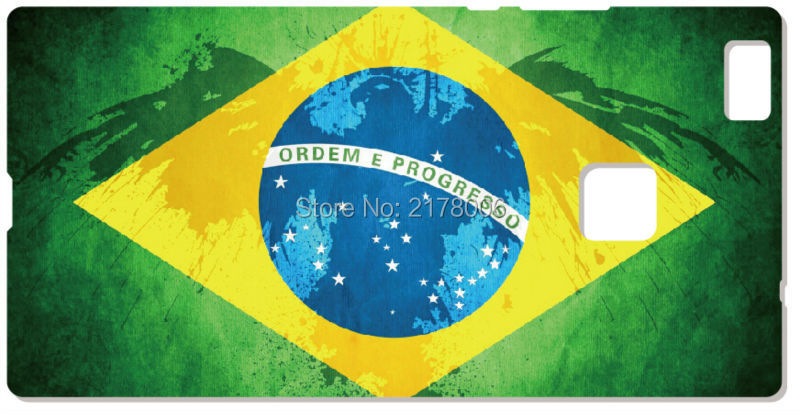 Printed Brazil Flag Plastic Hard Cell font b Phone b font Cover For Huawei Honor 6