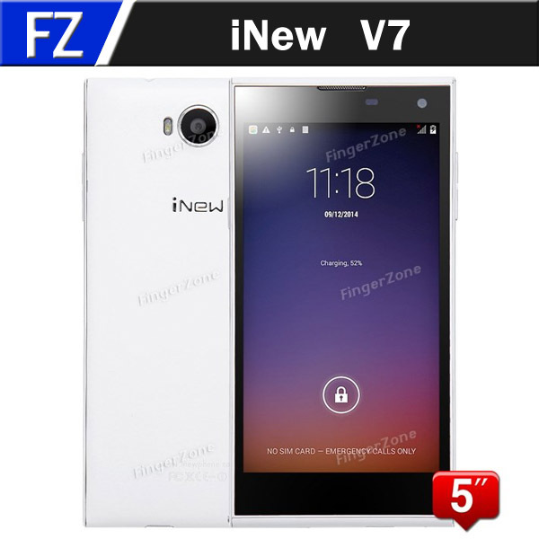 """Original iNew V7 5.0"""" IPS OGS HD MTK6582 Quad Core Android 4.4.2 3G WCDMA Mobile Cell Phone 16MP CAM 2GB RAM 16GB ROM Smartphone(China (Mainland))"""