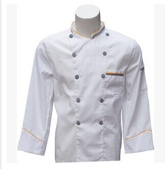 Chef service Long sleeved service New hotel chef Costume Restaurant kitchen work clothes(China (Mainland))