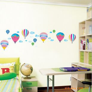 Sale 3D Paper Cartoon Hot Air Balloon Child Winnie The Pooh Baby Wall Sticker Decals Home Decoration Decor Living For Kids Rooms(China (Mainland))