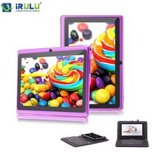 IRULU eXpro Brand Purple High Quality Android4.4 Tablet PC 7″1024*600 HD 3G/WIFI  AllwinnerA33 Quad Core 16GB Black Keyboard