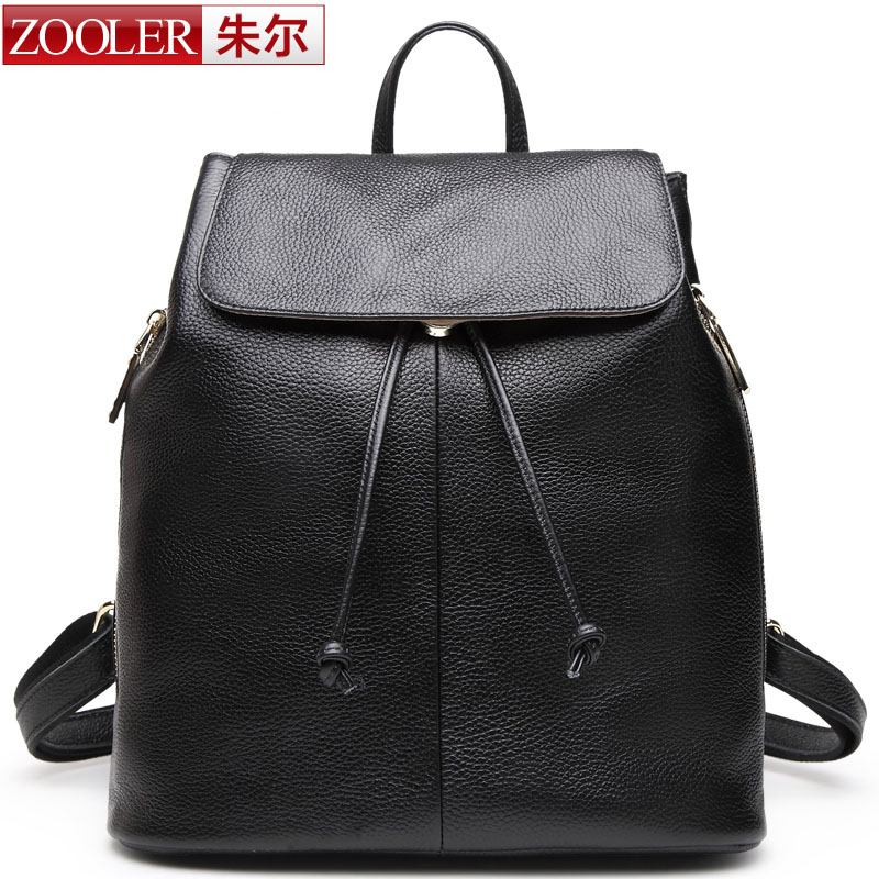 Zooler Brand women leather backpack 2015 new listed genuine leather backpackss school girl@boy fashion style 921# China hot<br><br>Aliexpress