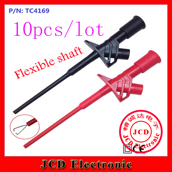 10pcs professional full test clip test hook flexible high voltage 4mm(China (Mainland))