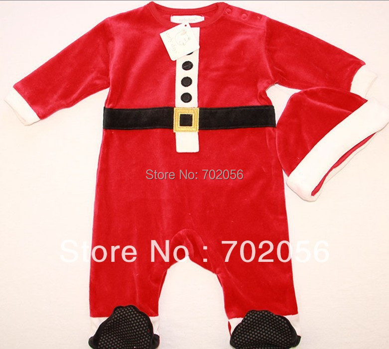 Christmas Gift set baby Xmas Romper hat jumpsuit Oneises Bodysuits Rompers pjs outfit sleeper 16sets/lotsoft 12sets/lot #2995<br>
