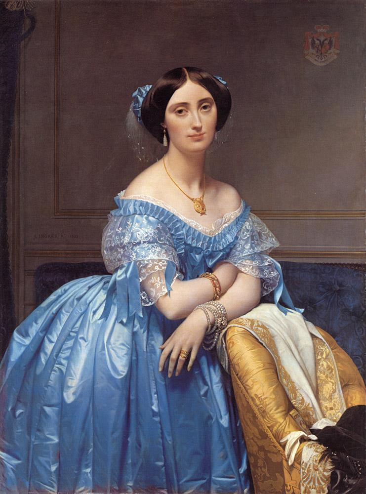 Free shipping! High Quality! hand painted most famous artists oil painting reproduction Ingres art Princesse-Albert-de-Broglie(China (Mainland))