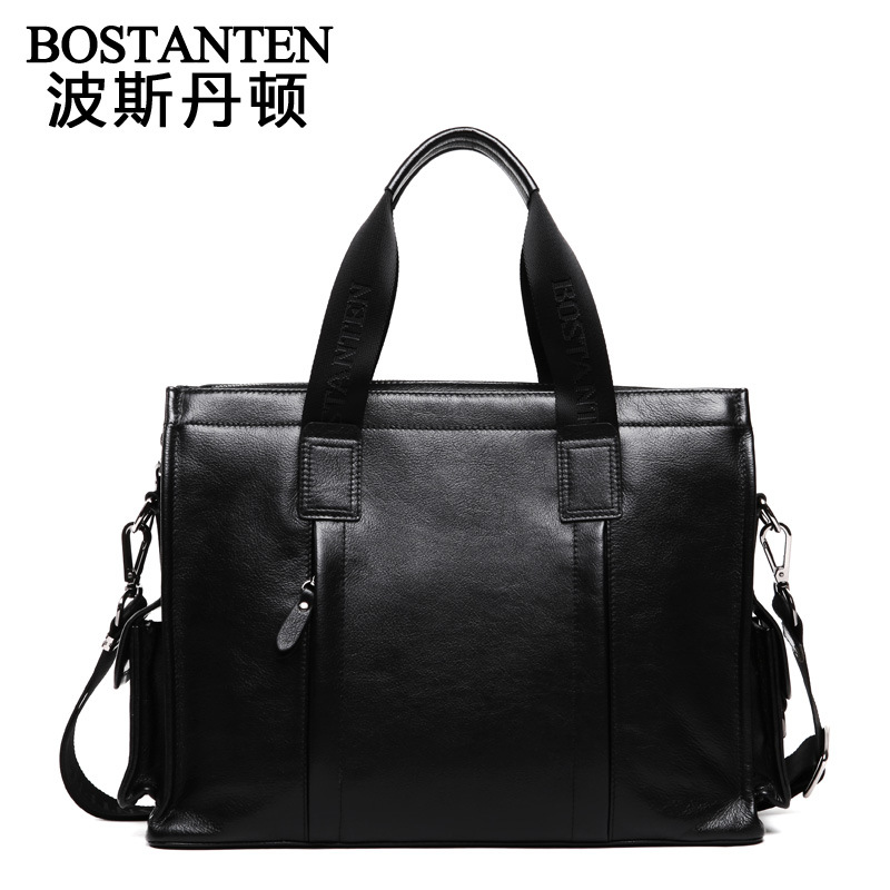 New Men's casual briefcase genuine leather shoulder messenger bag classical Men's business notebook Handbag Male Package