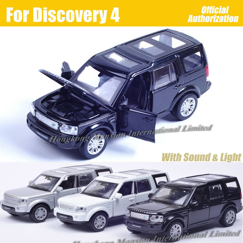 1:32 Scale Diecast Alloy Metal Car Model For Discovery 4 Collection Model Powerful Pull Back Toys Car With Sound&Light(China (Mainland))
