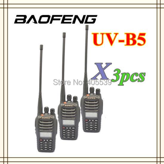 3pcs/lot Baofeng walkie talkie UV-B5 dual display dual band VHF+UHF handheld FM transceiver uvb5 two way radio(China (Mainland))