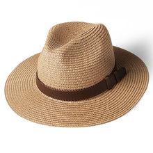 FURTALK بنما قبعة الصيف قبعات للحماية من الشمس للنساء رجل قبعة قش للشاطئ للرجال UV حماية قبعة فاتحة فام 2019(China)