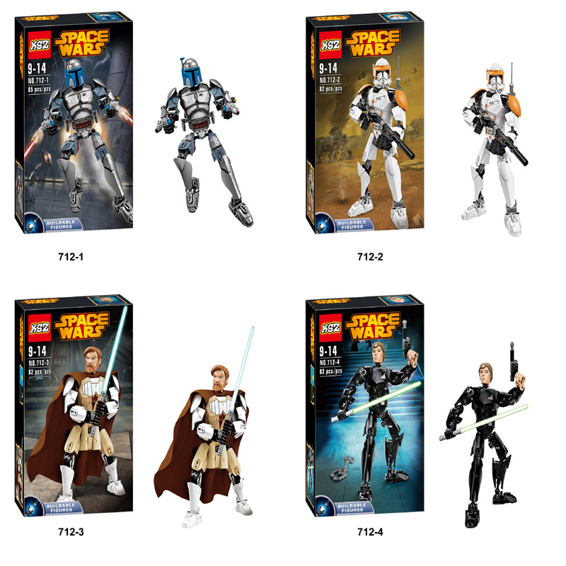 New Star Wars Minifigures Darth Vader General Grievous Clone Commander Cody Figure toys building blocks compatible legoelieds<br><br>Aliexpress