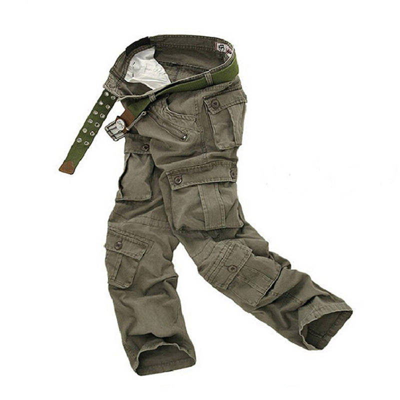 Man Brand Military 2015 Army Baggy Pants Camouflage Outdoors Mens Khaki Cargo Pants Men's Sport Joggers Multi Pocket Trousers(China (Mainland))