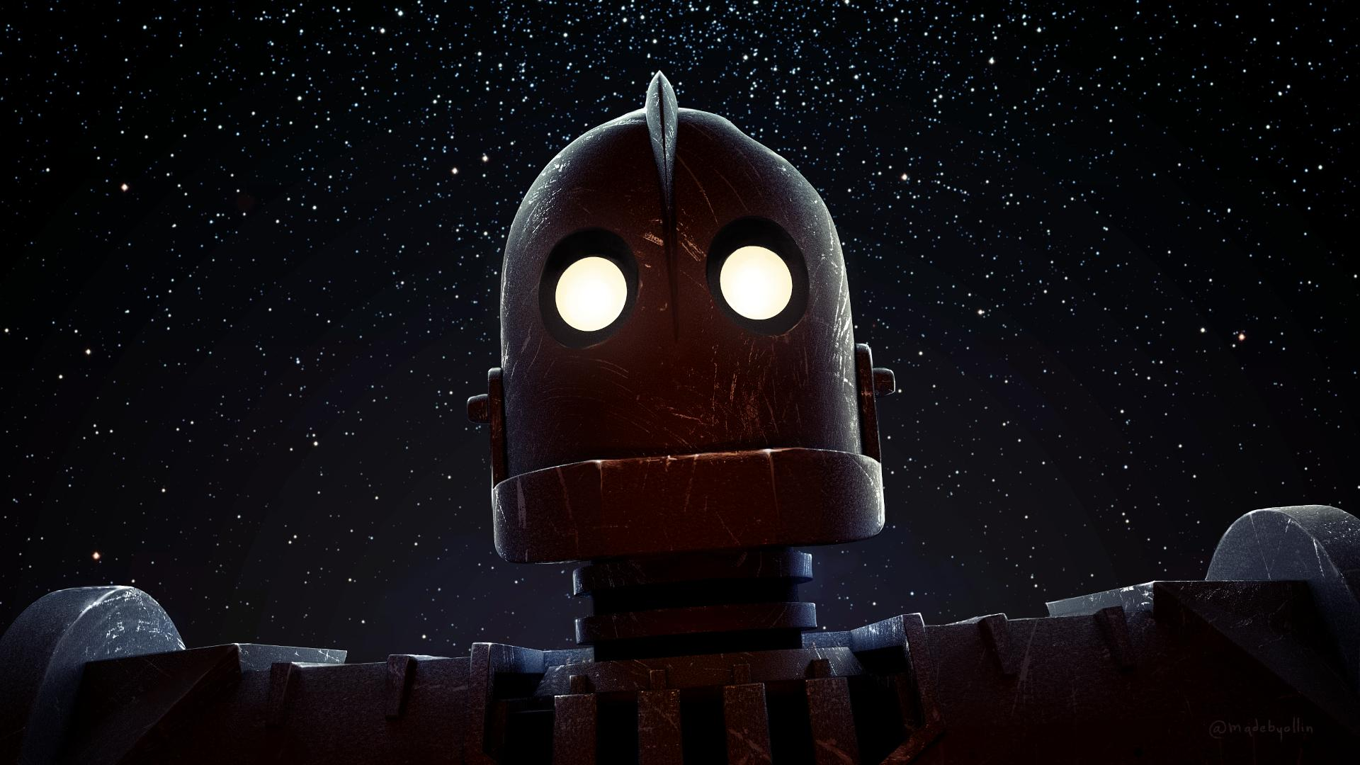 The Iron Giant stars lights movies Poster Home Decor Custom Fashion Classic Wall Sticker 4 sizes Free Shipping(China (Mainland))