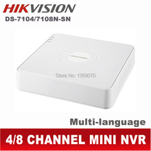 Hikvision nvr 4ch 8ch onvif hd mini registratore video di rete ds-7104n-sn ds-7108n-sn con hdmi audio ds-7104n ds sn(China (Mainland))