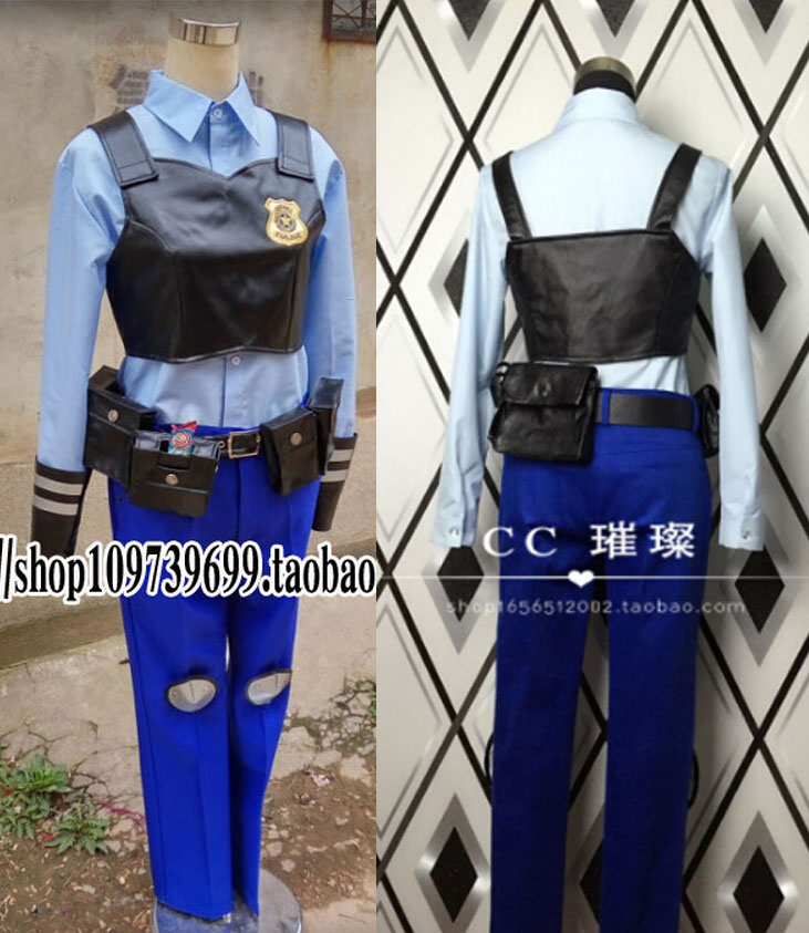 ZOOTOPIA Judy Hopps Bunny Rabbit Cosplay costume uniform policy shirt pant vest customized setОдежда и ак�е��уары<br><br><br>Aliexpress