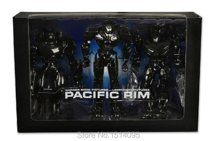"7″ 18CM NECA Pacific Rim ""Finish Titles"" Jaeger Three-pack PVC Motion Determine Collectible Toy WF020"