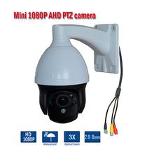 New Arrival 3 inch 1080P Weatherproof IP66 2MP AHD PTZ Dome Camera 3X Optical Zoom 2MP mini Security CCTV Camera(China (Mainland))