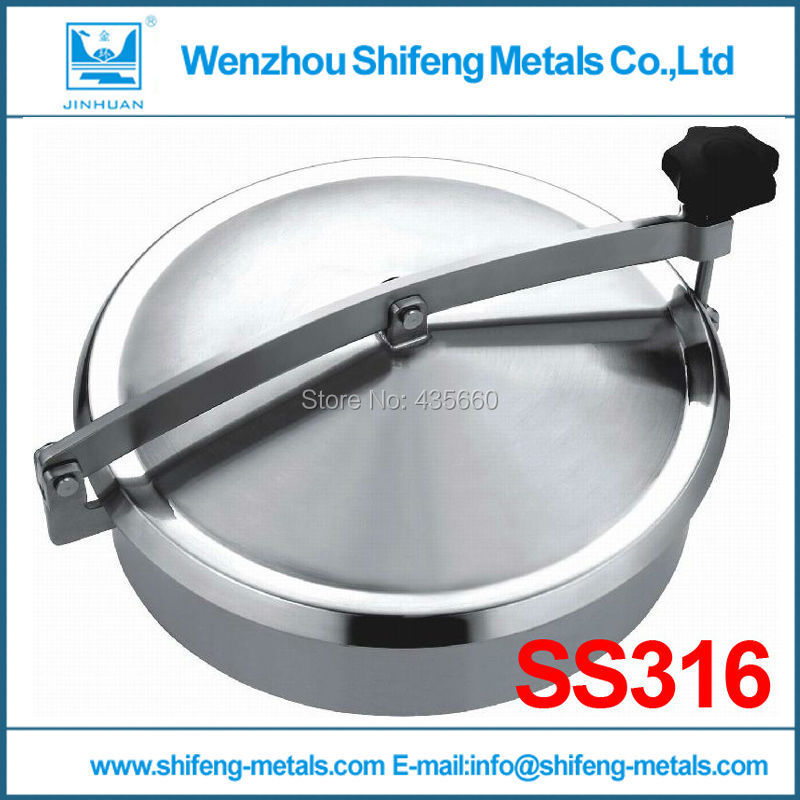 300MM SS316L Circular manhole cover without pressure,Height:100mm(China (Mainland))