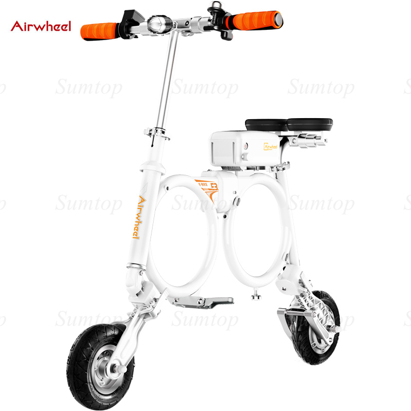 2016 Airwheel E3 Light Weight Foldable Smart Electric Scooter with Seat Portable Mobility folding e bike lithium battery bicycle(China (Mainland))