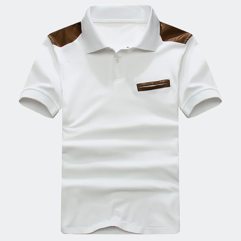 new product 2015 summer men leisure short sleeve shirt, pure cotton High Quality men shirts Shoulder stitching design(China (Mainland))