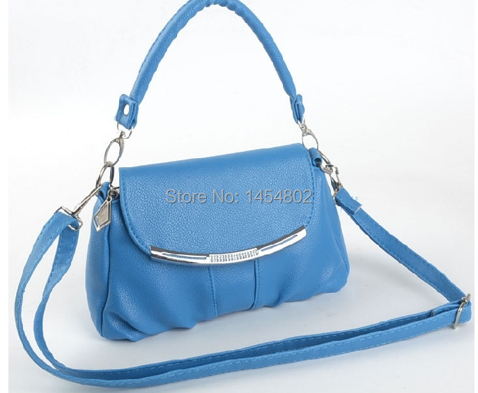 Han edition fashion pu small new female bag bag, candy color leisure hand the bill of lading shoulder bag female bag(China (Mainland))