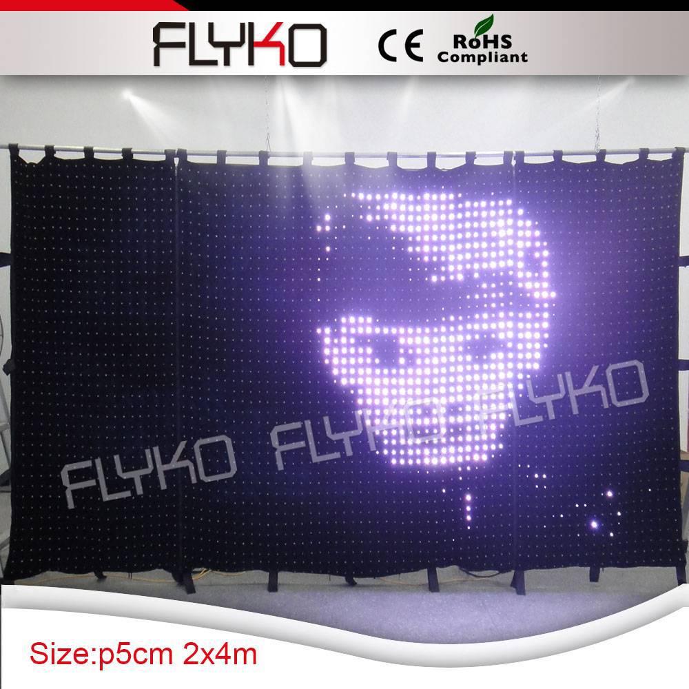 LED stage curtain/fireproof led video curtain /led cloth wedding ...