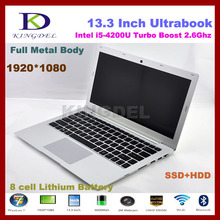Free shipping Laptop Ultrabook Noterbook Computer 13.3″ Dual Core i5 CPU , 4GB RAM 32GB SSD+1TB HDD,1080P,WIFI,Bluetooth,6600mah