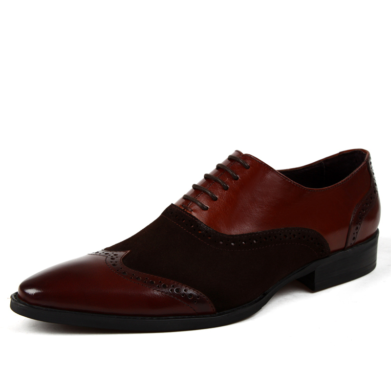 simple coming pointed leather lace wedding formal dress shoes oxfords