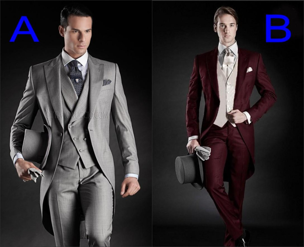 Здесь можно купить  2015 Custom Made Groom Tuxedos Groomsmen Morning Style 10 Style Peak Lapel Groomsman Men