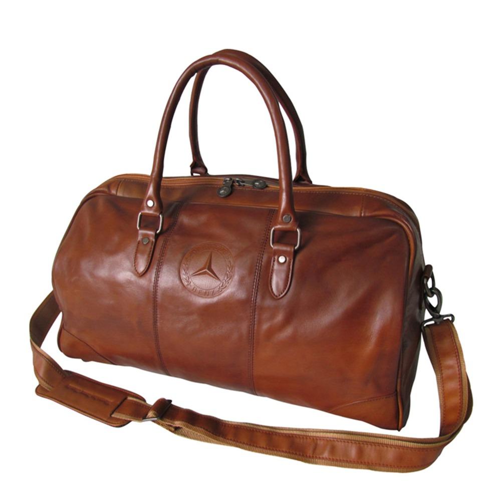 Tourbon Fashion Vintage Traval Weekend Bag Gym Bags Durable Brown Leather Duffle Bags Unisex<br>