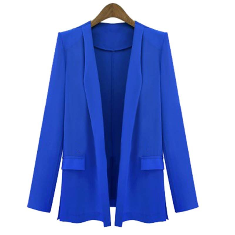 2015 Hot Sell New Autumn Winter Slim Thin Suit Jacket Women Coat Casual Jacket Plus Size Outwear Free Shipping zx*UCE3117#s8(China (Mainland))