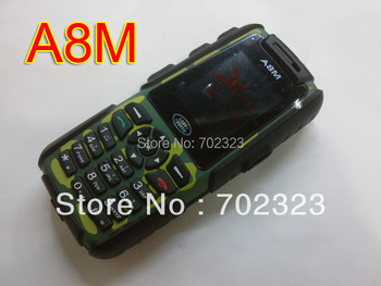 Free shipping A8M Analog TV Phone Quad Band 1.8inch Bluetooth Camera Dustproof Outdoor Phone Russian keyboard available