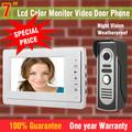 7 TFT Color Monitor Video Door Phone Intercom Doorbell System Kit IR Camera Doorphone Speakerphone Intercom