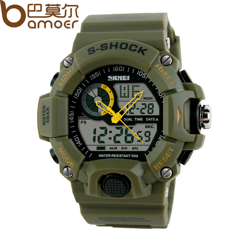 SKMEI HOT Mens Digital Watch for Sports Second Stop Watch Different Time Zone Casual Style for