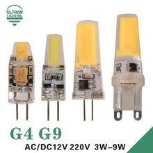 Buy LED G4 G9 Lamp Bulb AC/DC 12V 220V 3W 6W 9W COB SMD LED Lighting Lights replace Halogen Spotlight Chandelier for $1.10 in AliExpress store